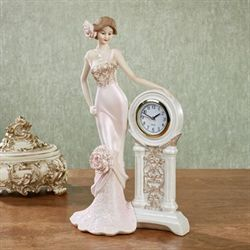 Pretty and Punctual Lady Figurine Light Pink