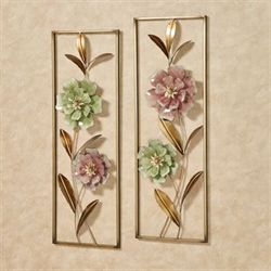 Cordial Rose Wall Art Celadon Set of Two