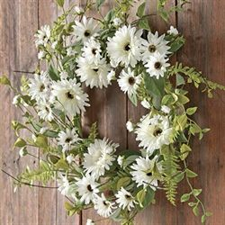 Gerbera Daisy Wreath White