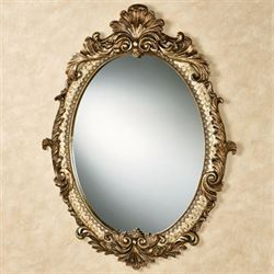 Arellia Oval Wall Mirror Gold/Ivory