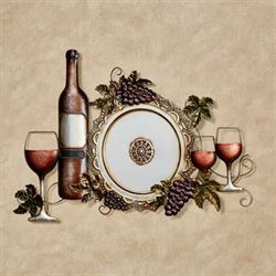 Bountiful Wine Wall Art Platinum