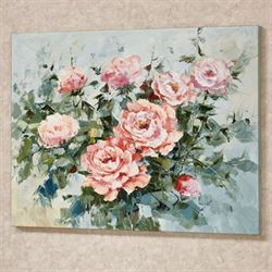 Roses in Bloom Canvas Wall Art Pink
