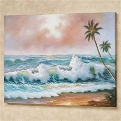 Sweeping Surf Canvas Wall Art Multi Cool