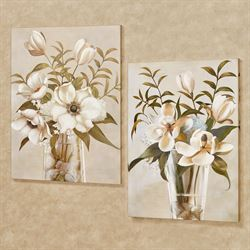 Floral Romance Canvas Wall Art Multi Cool Set of Two