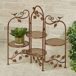 Maury Leaf Folding Plant Stand Bronze