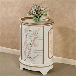 Wild Rose Storage Cabinet Off White
