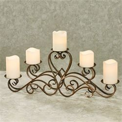 Georgiana Tabletop Candelabra Light Gold