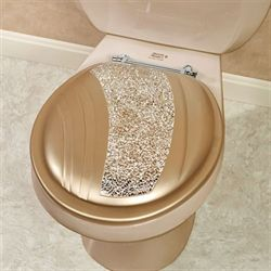 Glamour Standard Toilet Seat Champagne Gold
