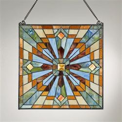 Isobel Stained Glass Window Art Panel Multi Bright