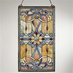 Dorothea Stained Glass Window Art Panel Multi Earth