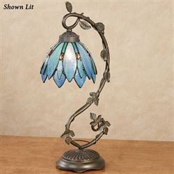 Tahmina Tulip Accent Lamp Blue