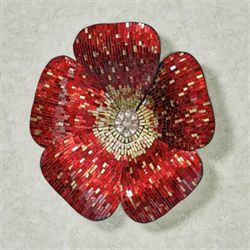 Ruby River Mosaic Flower Wall Art
