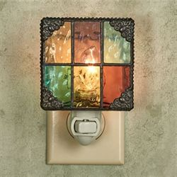 Country Flare Stained Glass Nightlight Multi Bright