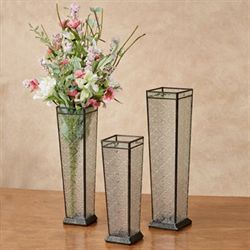 Leonore Table Vases Clear Set of Three
