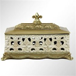 Watson Covered Box Ivory/Gold