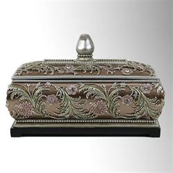 Aubrey Decorative Covered Box Multi Metallic