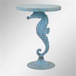 Seahorse Accent Table Blue