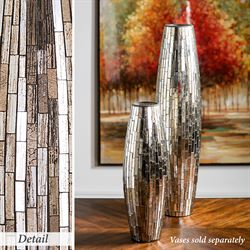 Mosaic Glass Decorative Vase Beige