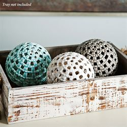 Openwork Decorative Orbs Multi Cool Set of Three
