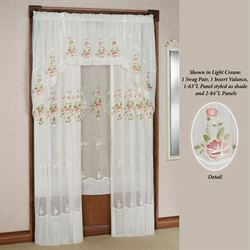 Graceful Blooms Sheer Curtain Panel