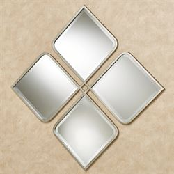 Cloverdale Wall Mirror Antique Silver