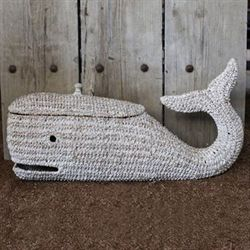 Bankuan Rope Whale Storage Box Antique White
