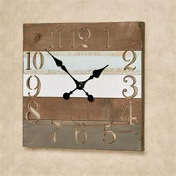 Coastal Wall Clock Multi Warm