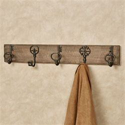 Rustic Wall Hook Rack Multi Warm