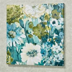 Floral Garden Giclee Canvas Wall Art Multi Cool