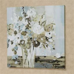 Natural Vase Floral Canvas Wall Art Multi Cool