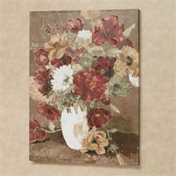 Classic Bouquet Floral Canvas Wall Art Multi Warm
