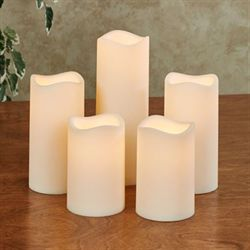 Elin LED Flameless Candles Ivory Set of Five