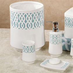 Watercolor Lattice Lotion Soap Dispenser Ivory