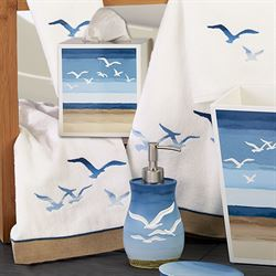 Seagulls Lotion Soap Dispenser Ivory