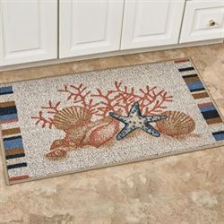 Seaside Berber Accent Rug Multi Warm 40 x 22
