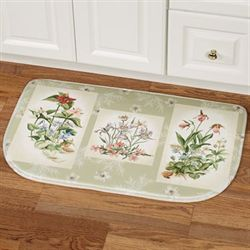 Three Bouquets Cushioned Slice Mat Pale Green 30 x 18