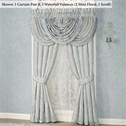 Couture Tailored Curtain Pair Pale Blue