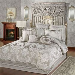 Bellamy Comforter Set Silver Gray