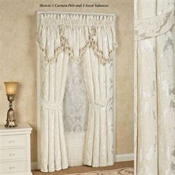 Estate Tailored Curtain Pair Ivory