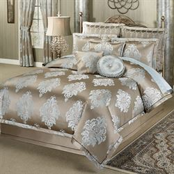 Athena Comforter Set Light Taupe