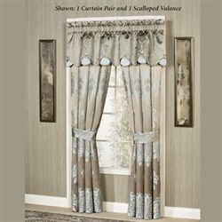 Athena Scalloped Valance Light Taupe 72 x 18