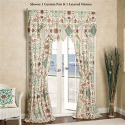 Cote d Azur Tailored Curtain Pair Light Cream 84 x 84
