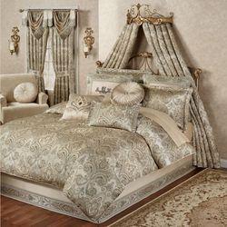 Grandeur Comforter Set Golden Beige