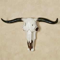 Steer Skull Wall Art Ivory