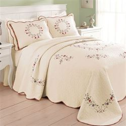 Angela Quilted Bedspread Light Cream
