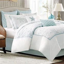 Maya Bay Comforter Set White