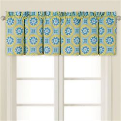 Delilah Blue Gathered Valance 72 x 15.5