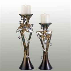 Jalynn Candleholder Set Copper Set of Two