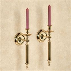 Vienne Brass Wall Sconce Pair Polished Brass Pair