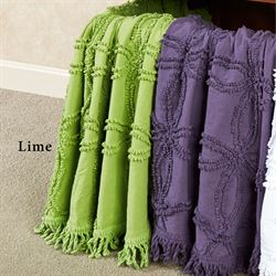 Vintage Cotton Chenille Throw